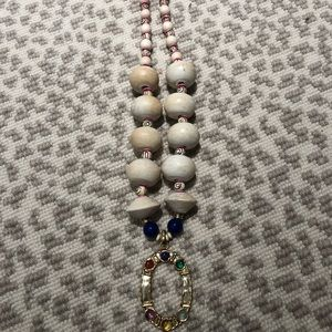 Anthropologie Wood Beaded Necklace - NEW!